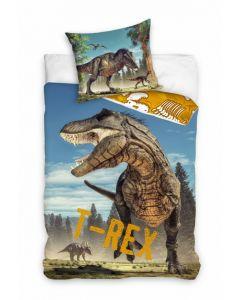 Pościel dziecięca bawełniana Carbotex dinozaury - zdjęcie nr 1