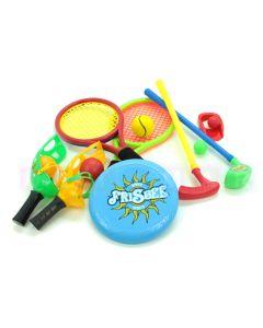 Zestaw rekreacyjny 4 gry sportowe na podwórko