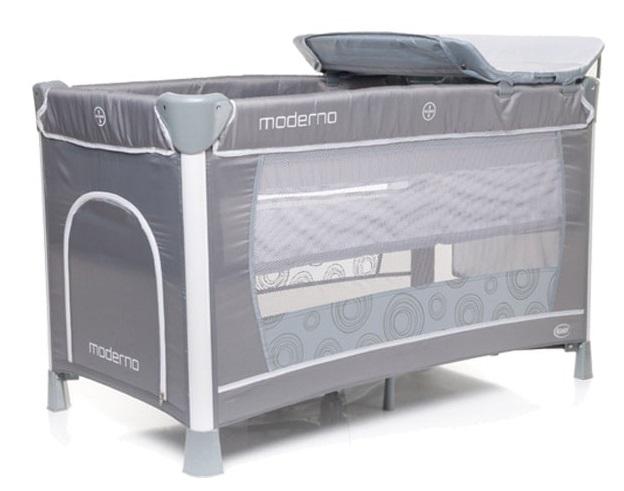 Łóżeczko turystyczne 4Baby Moderno 2 poziomowe z przewijakiem