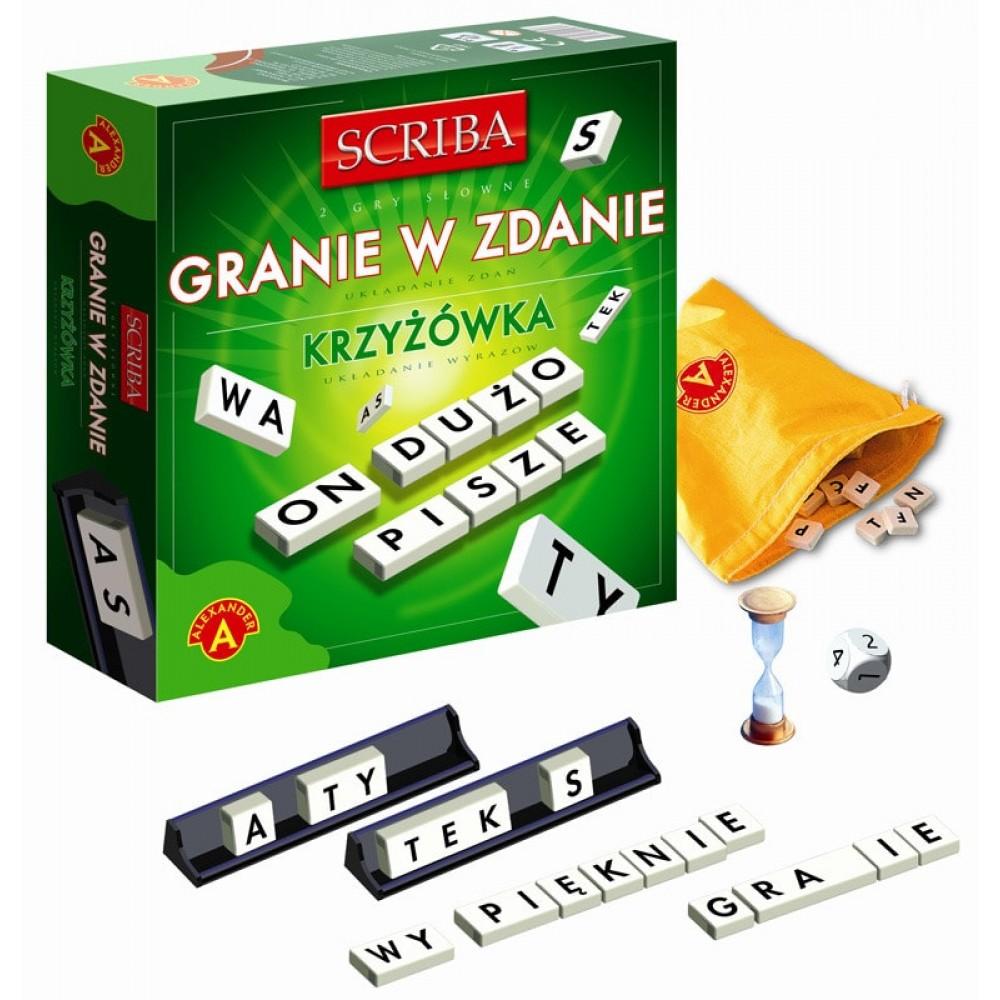 Scriba granie w zdanie i krzyżówka Alexander zestaw gier słownych