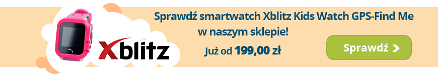 Interaktywny zegarek smartwatch Xblitz Kids Watch GPS-Watch Me