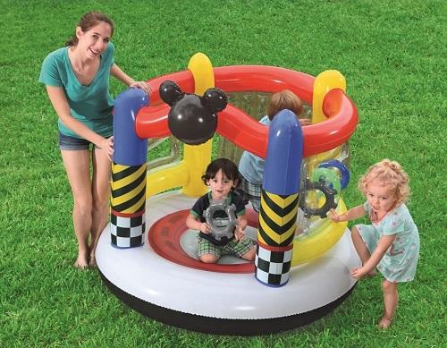 Trampolina dmuchana dla dzieci Bestway domowa i ogrodowa Myszka Mickey 91075