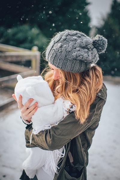 werandowanie noworodka zimą