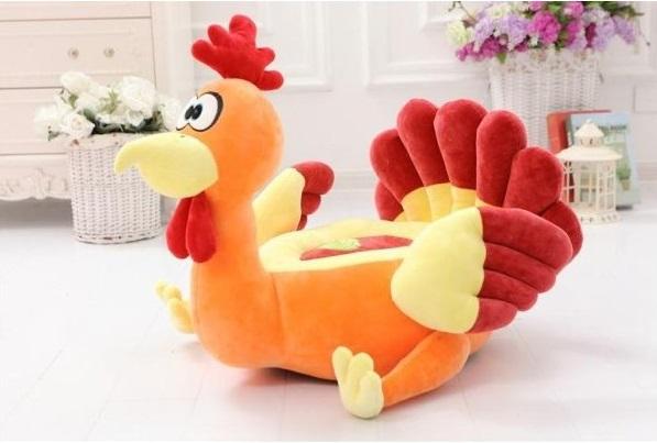 Pluszowy fotel dla dzieci Kogucik