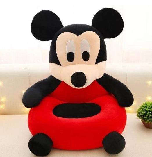 Pluszowy fotel dla dzieci Myszka Miki