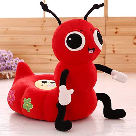 Pluszowy fotelik dla dziecka mrówka