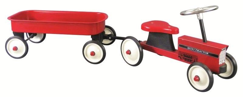 Goki jeździk dla dzieci traktor metalowy