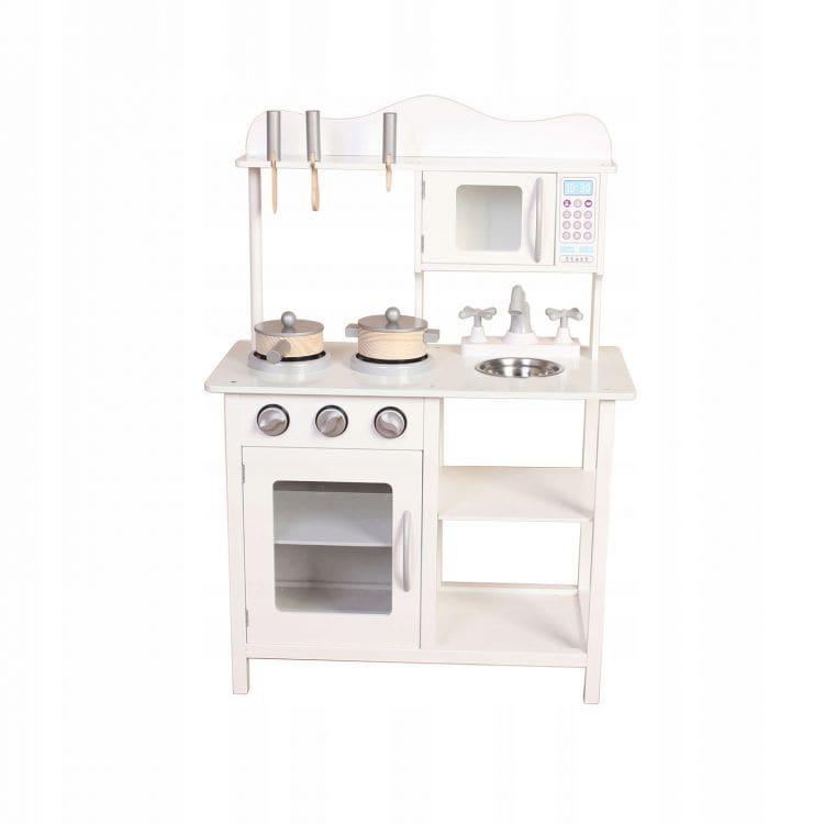 Kuchnia dla dzieci drewniana biała