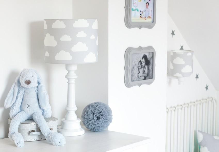LAMPA DLA DZIECI - chmurki grey