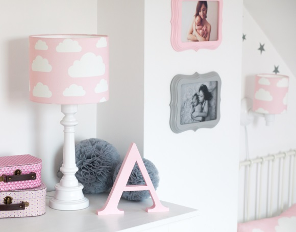 LAMPA DLA DZIECI - chmurki pink