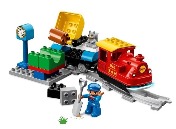 Klocki Lego Duplo Pociąg parowy 10874