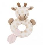 Żyrafa Charlotte okrągła grzechotka 15 cm