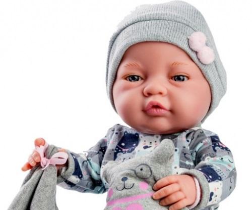 Hiszpańska lalka Paola Reina Bebita chłopiec 45 cm