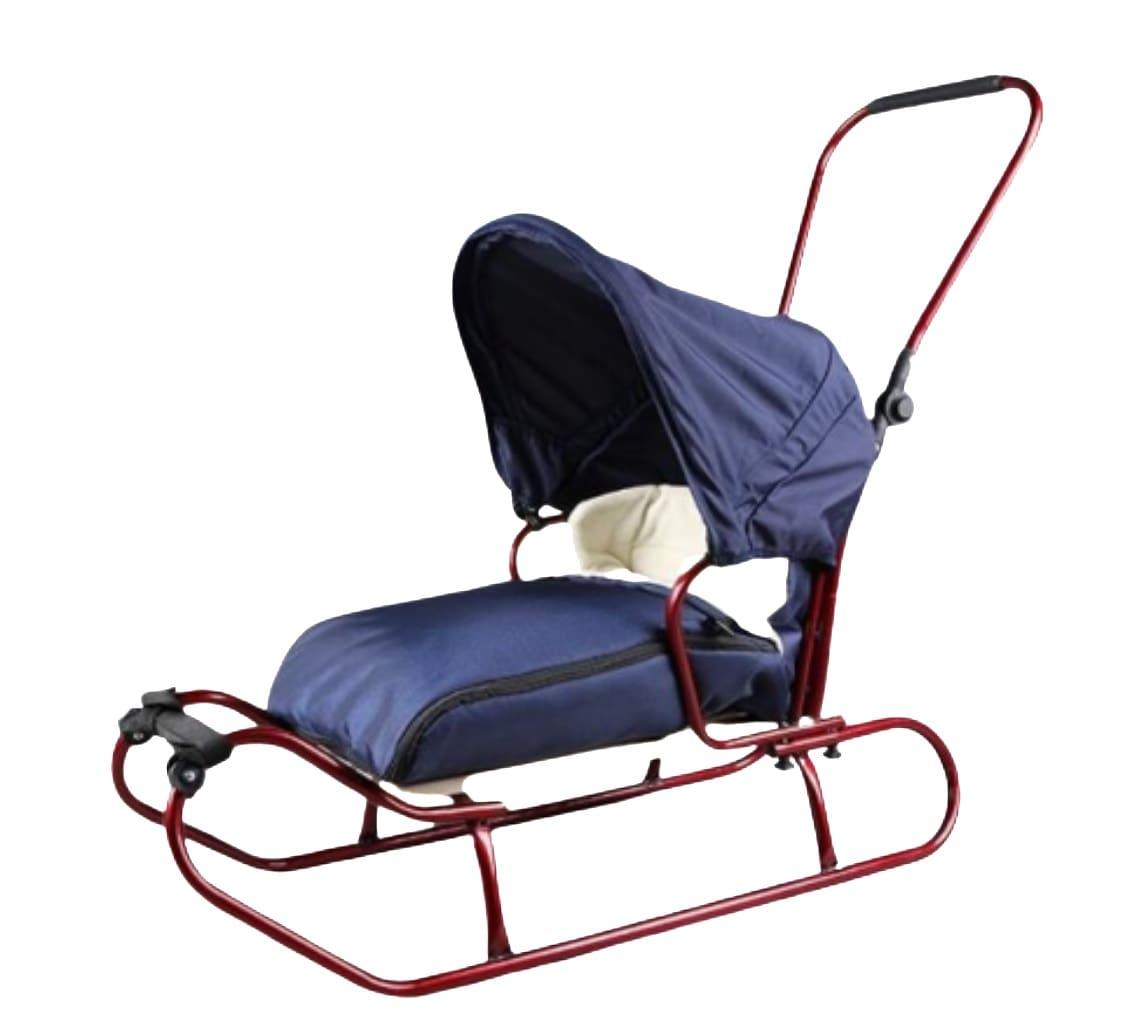 Sanki dla dzieci ze śpiworkiem popychaczem