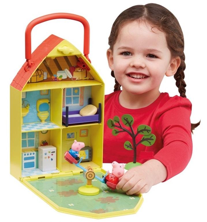 Domek Świnki Peppy TM Toys z ogrodem
