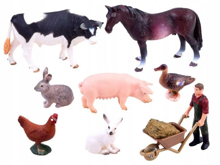 Figurki zwierzęta gospodarskie zabawki
