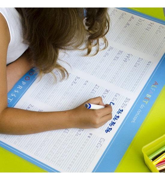 Podkładka mata na biurko alfabet