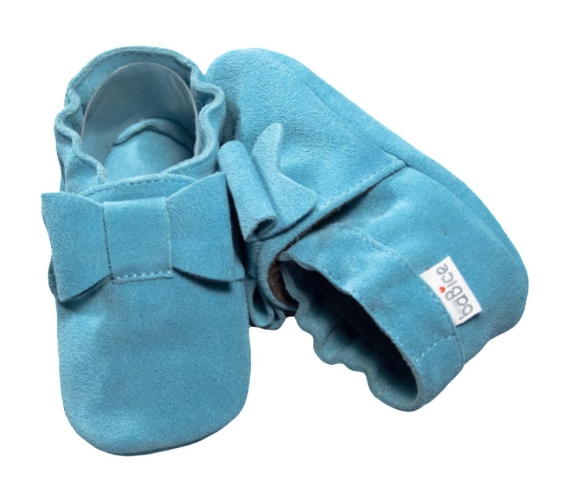 Pierwsze buciki dla niemowlaka niebieskie