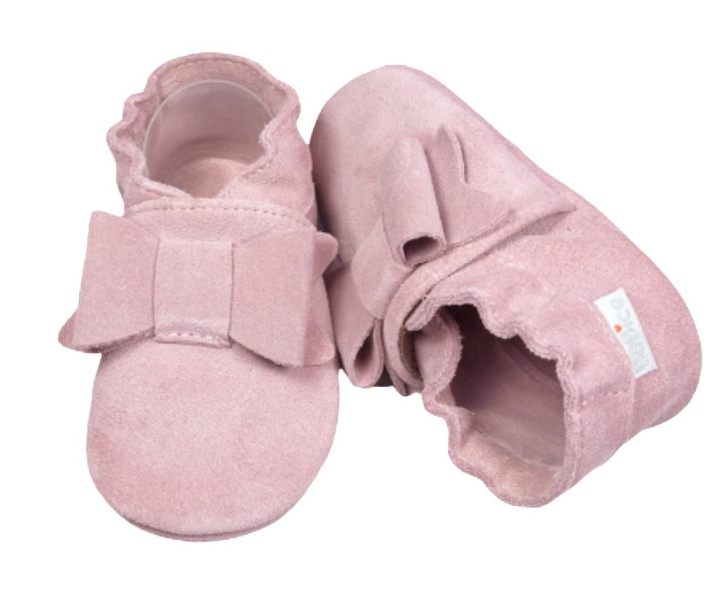 Buciki niechodki dla dziewczynki różowe