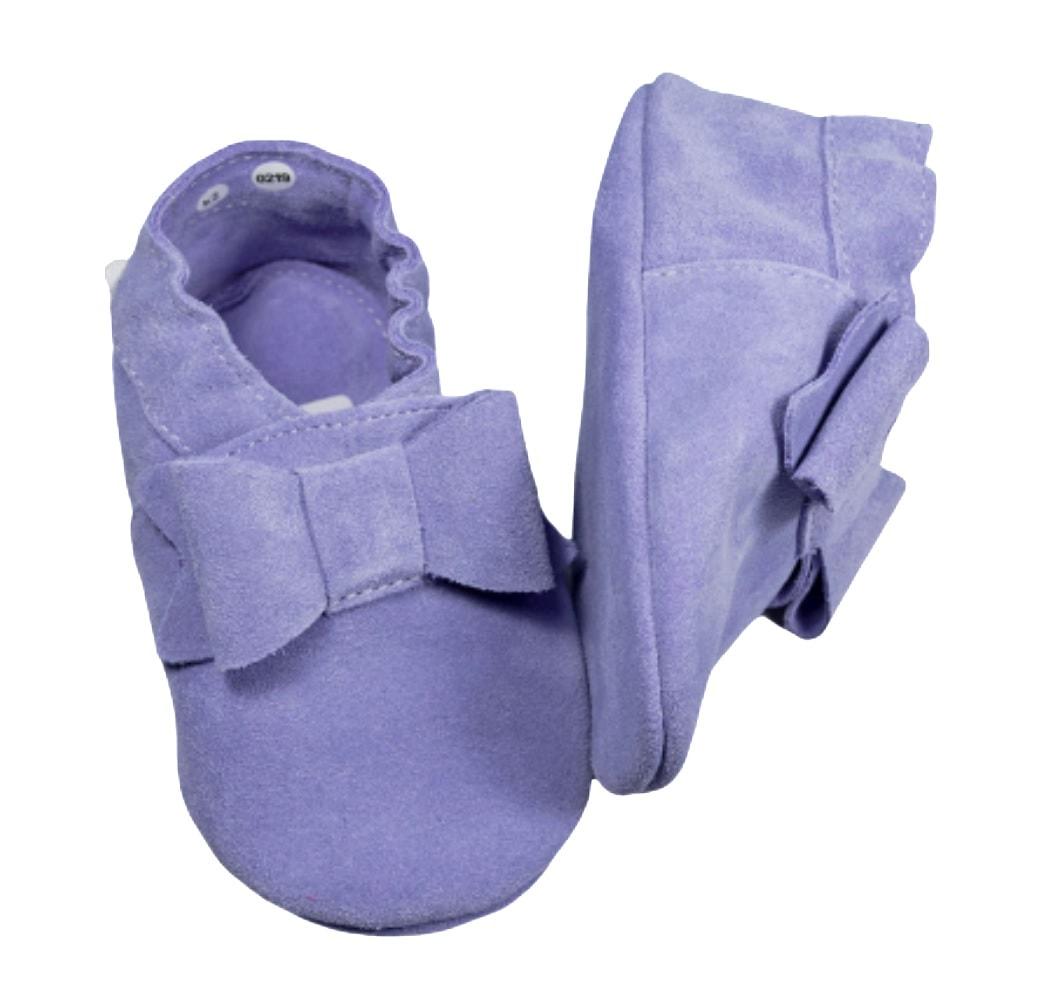 Pierwsze buciki dla niemowlaka fioletowe