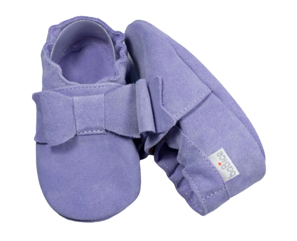 Buciki niemowlęce fioletowe