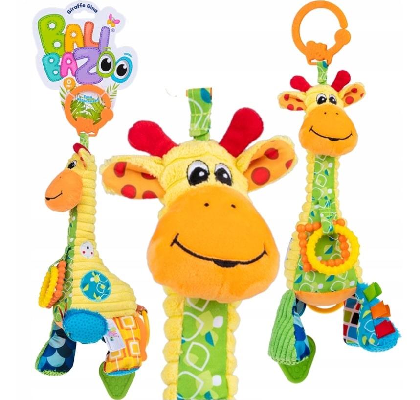 Zawieszka żyrafa z pozytywką i gryzak
