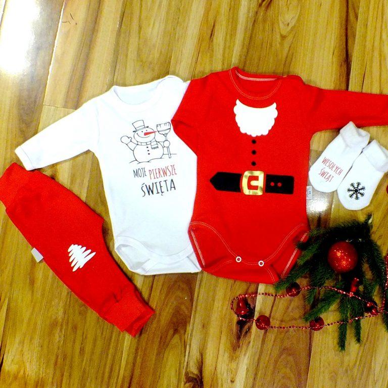 Moocha ubranka świąteczne dla niemowląt