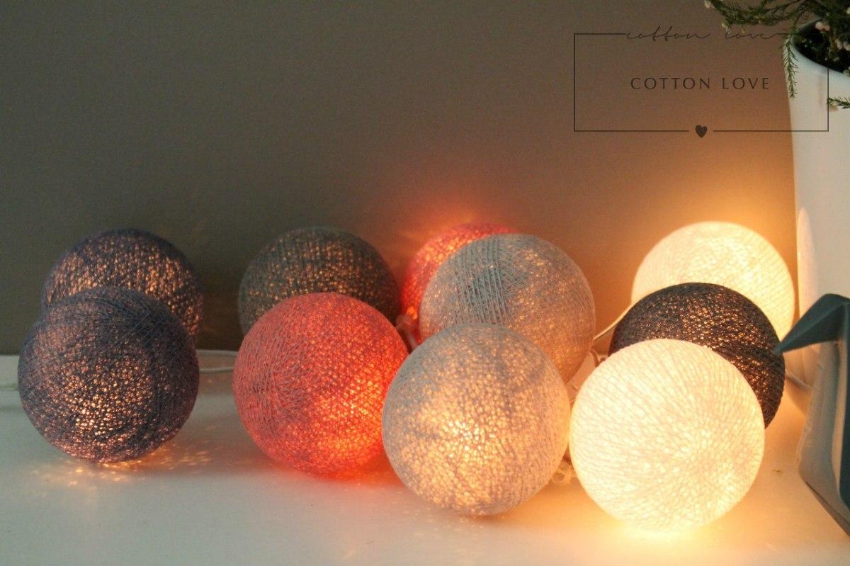 Świecące kule LED Cotton Balls