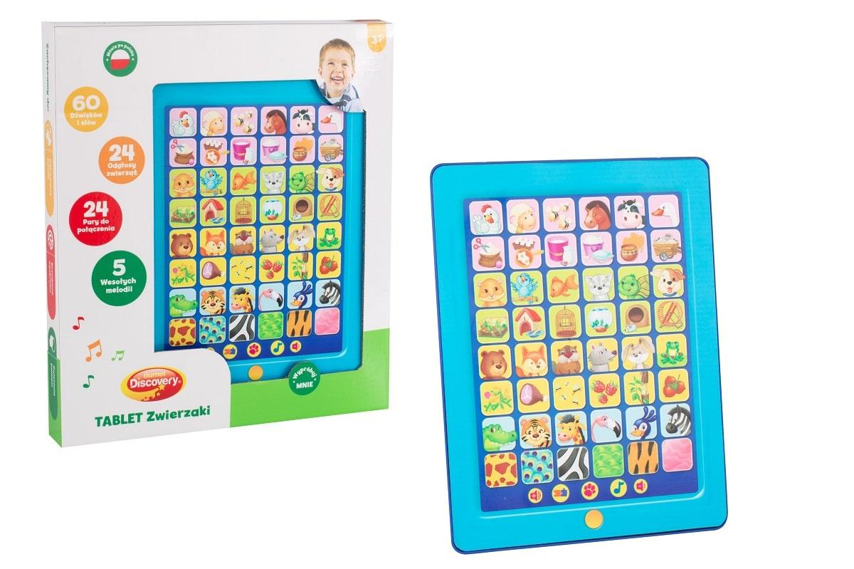 Interaktywny tablet dla dzieci zwierzęta
