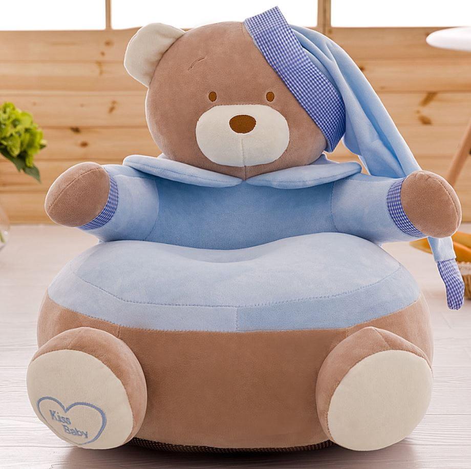 Pluszowy fotel dla rocznego dziecka