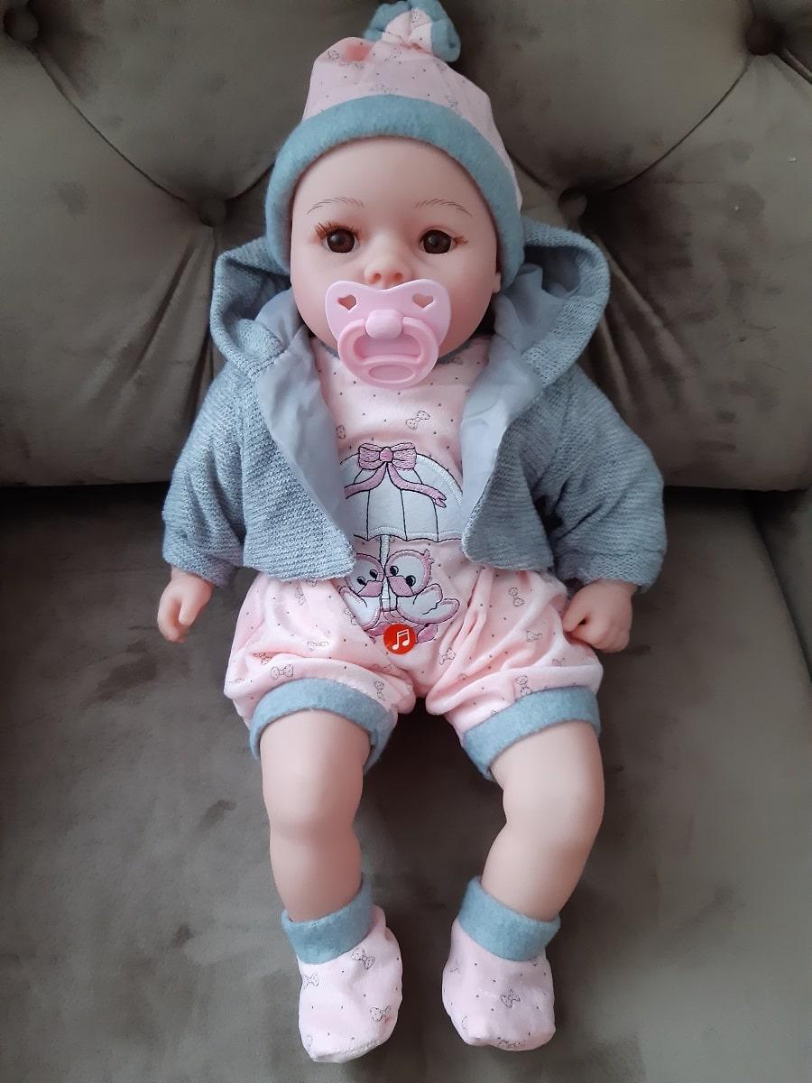 Interaktywny bobas lalka z pampersami