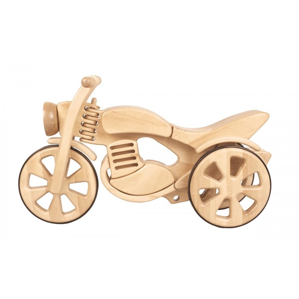 Rowerek biegowy drewniany motorek