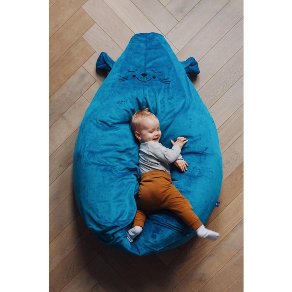 Pluszowa pufa dla rocznego dziecka, dwulatka, trzylatka