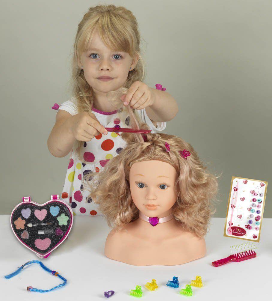 Głowa lalki dla dzieci do czesania stylizacji malowania