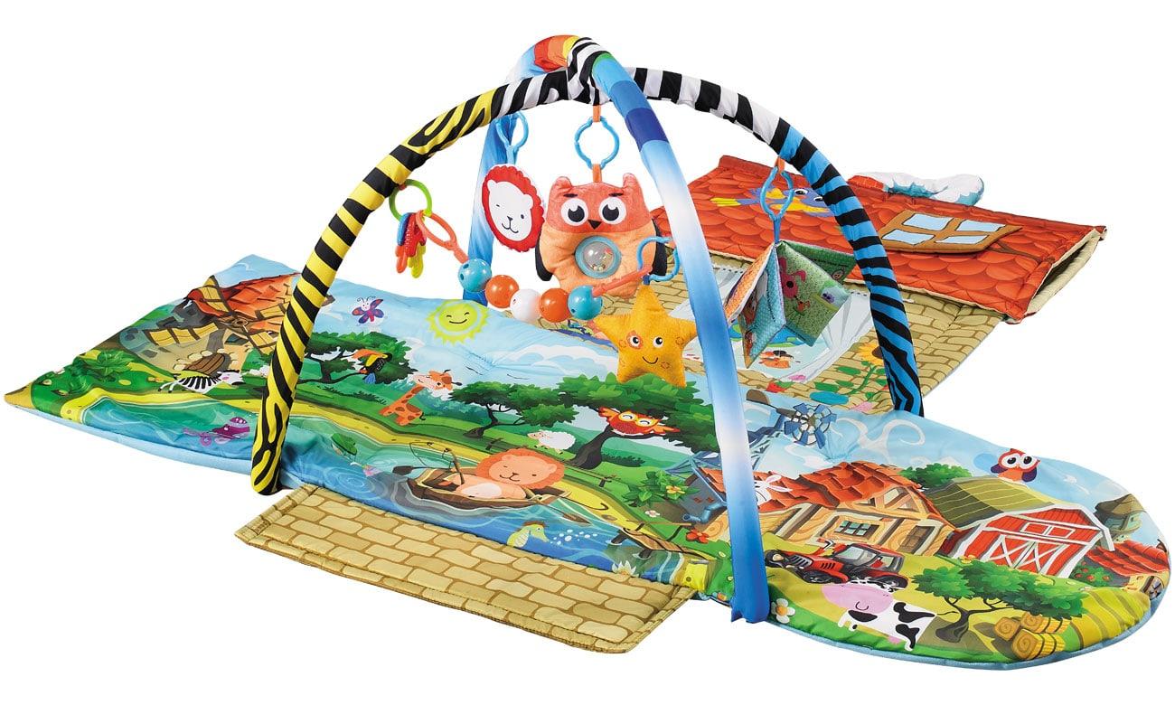 Mata edukacyjna Lionelo Agnes 2w1 domek z zabawkami