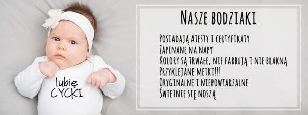 Body dla noworodka z napisami