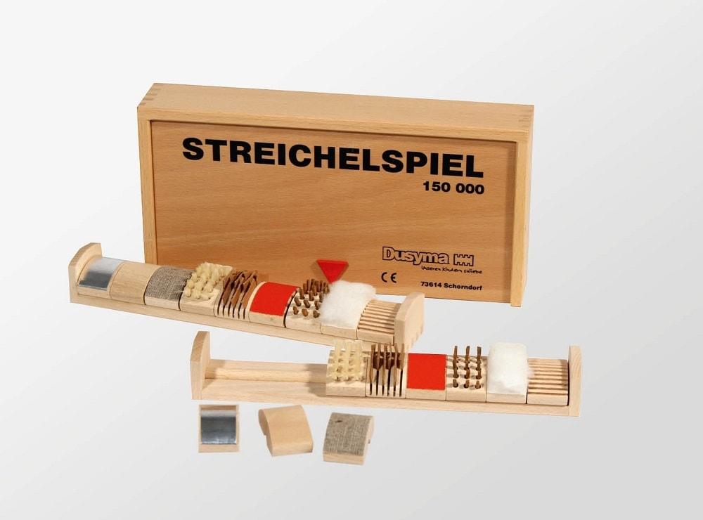 Drewniane klocki dotykowe Pilch sensoryczne