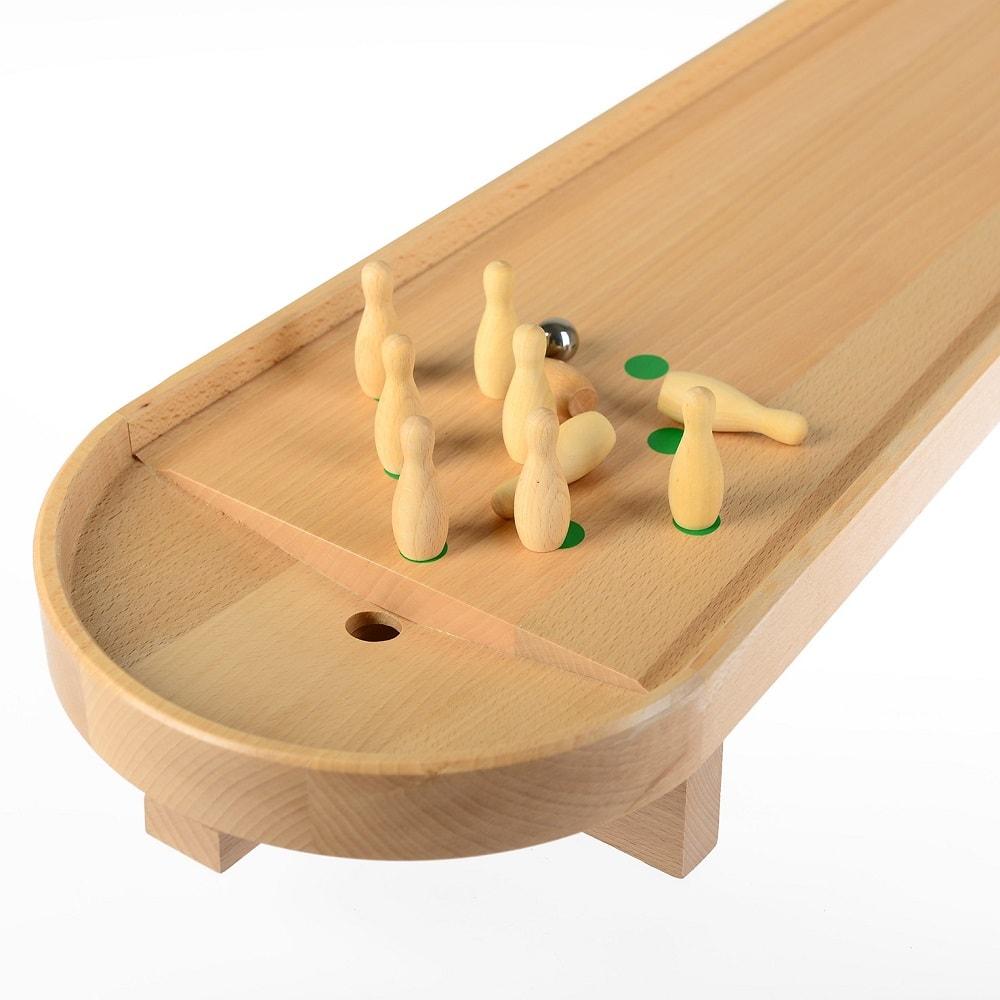 Kręgle stołowe Pilch drewniana gra zręcznościowa