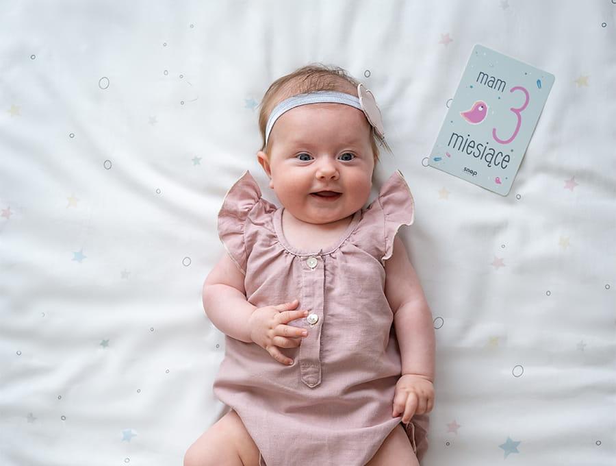 Foto karty do zdjęć dla niemowlaka snap the moment