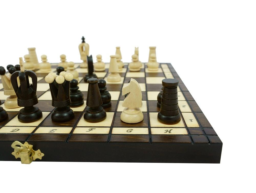 Drewniane szachy królewskie 34x34