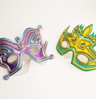 Markery Posca maska karnawalowa dla dzieci